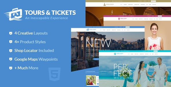 Tours & Tickets - HTML Template - Travel Retail