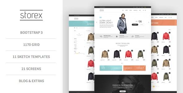 Storex Shopping Site & Blog Sketch Theme - Sketch UI Templates