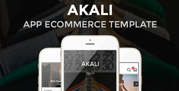Akali - Ecommerce App  - Sketch Templates