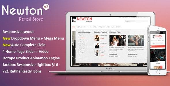 Newton - Responsive Retail Template - Retail Site Templates