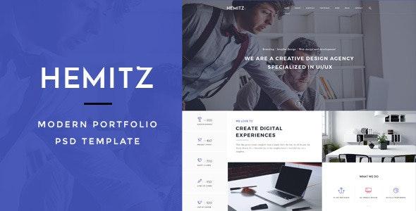 Hemitz - Modern Portfolio PSD Template - Business Corporate
