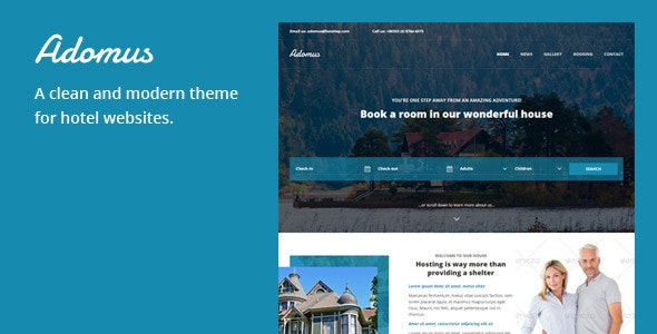 Adomus - Hotel WordPress Theme - Travel Retail