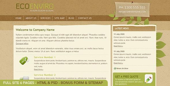Eco Enviro - HTML - Creative Site Templates