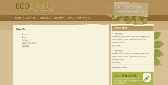 Eco Enviro - HTML