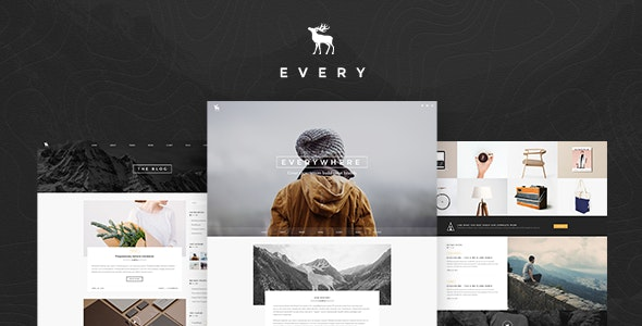 Every - Pro Create One Page Portfolio Theme - Portfolio Creative