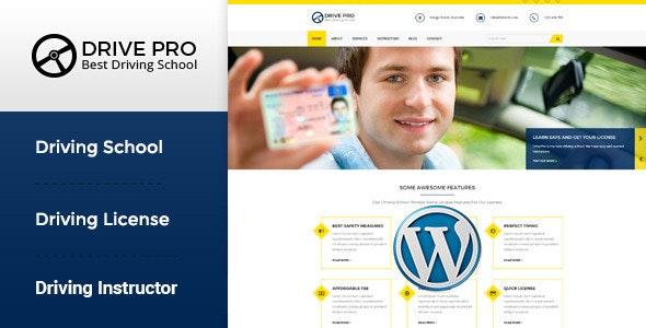 Drive Pro - Driving School WordPress Theme - Business Corporate