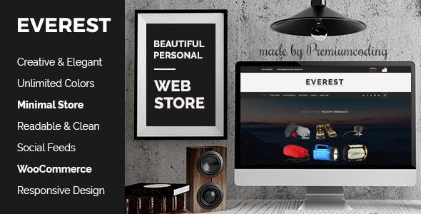 Everest - Minimal Ecommerce WordPress Theme