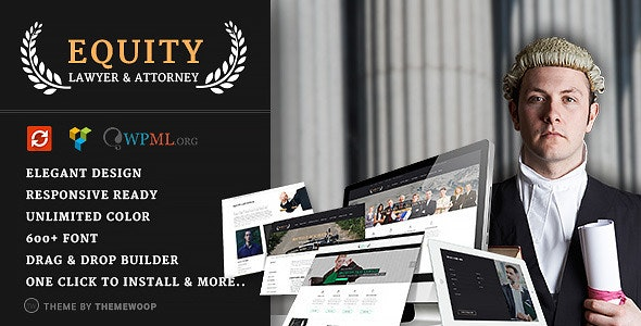 Equity - Lawyer and Attorney WordPress Theme - Business Corporate
