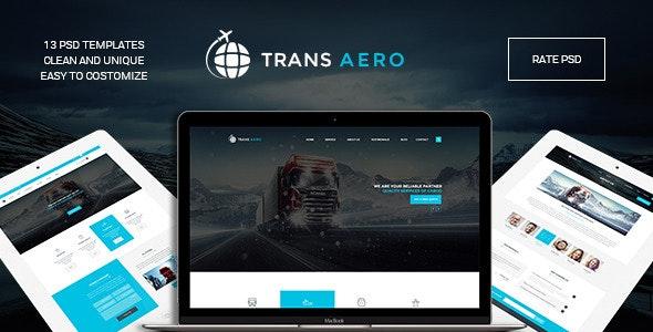 TransAero - Transport & Logistics PSD Template  - Business Corporate