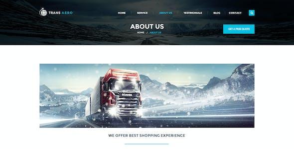 TransAero - Transport & Logistics PSD Template