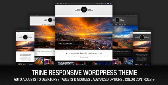 Trine Responsive WordPress Theme - Portfolio Creative