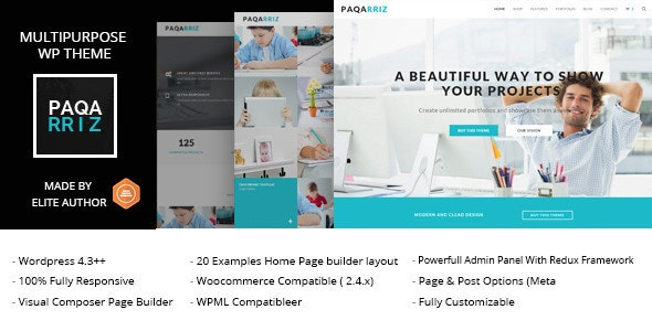 Paqarriz - Multipurpose WordPress Theme - Corporate WordPress