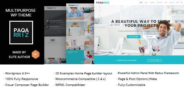 Paqarriz - Multipurpose WordPress Theme