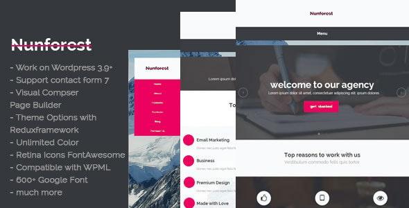 Nunforest - Multipurpose WP theme - Corporate WordPress