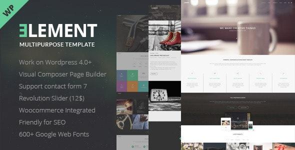 Element - Responsive Multipurpose Wordpress Theme - Corporate WordPress