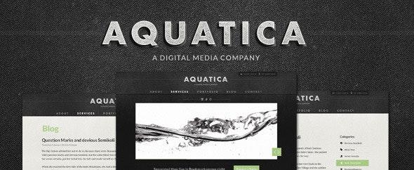 Aquatica Creative PSD Template - Creative Photoshop