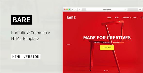 BARE - Portfolio & Agency HTML Template - Portfolio Creative
