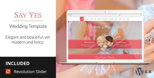 SayYes - WordPress Wedding Theme - Wedding WordPress
