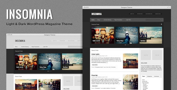 Insomnia, a Customizable Responsive Magazine Theme by