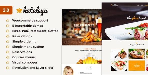 Kataleya - Restaurant Pizza Coffee WordPress Theme - Restaurants & Cafes Entertainment