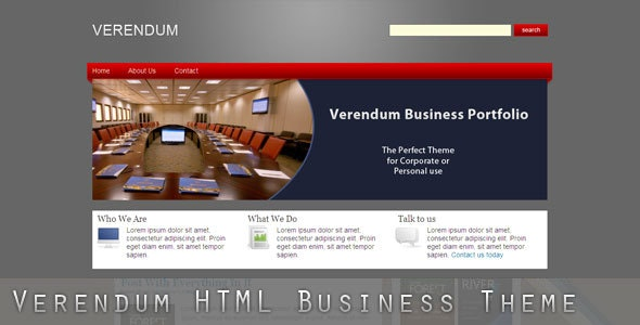 Verendum HTML Business Portfolio - Corporate Site Templates