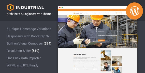 Industrial - Architects & Engineers WP Theme - Business Corporate