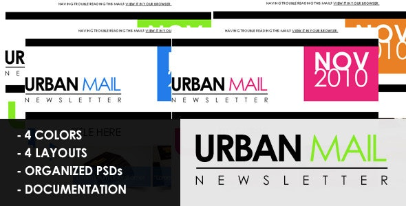 Urbanmail beautiful email template - Email Templates Marketing
