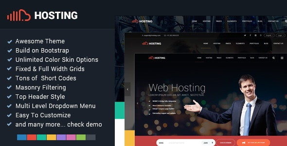 Hosting - Bootstrap Responsive Multi-Purpose HTML5 - Hosting Technology