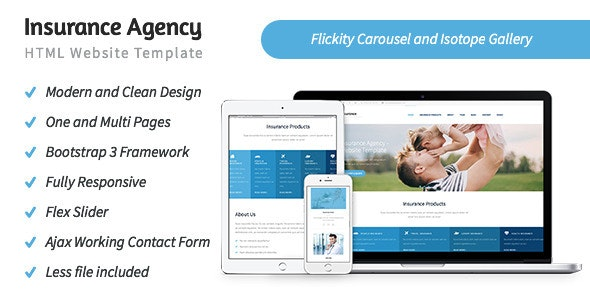 Insurance Agency - HTML5 Website Template - Business Corporate