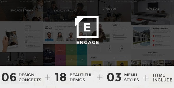 Engage - Creative One Page Parallax Drupal 7.6 Theme - Creative Drupal