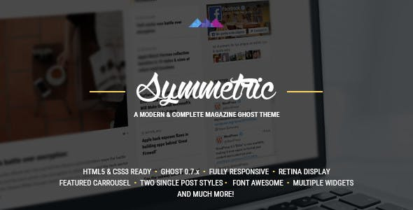 Symmetric - A Magazine Theme for Ghost