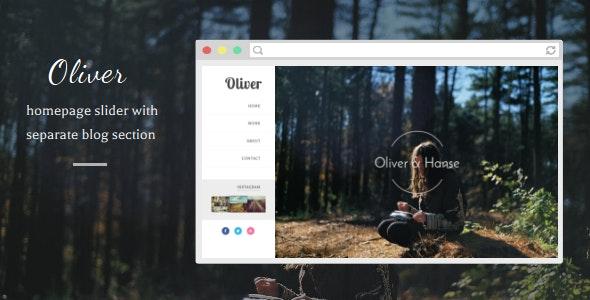 Oliver - Responsive Blogger Template - Blogger Blogging