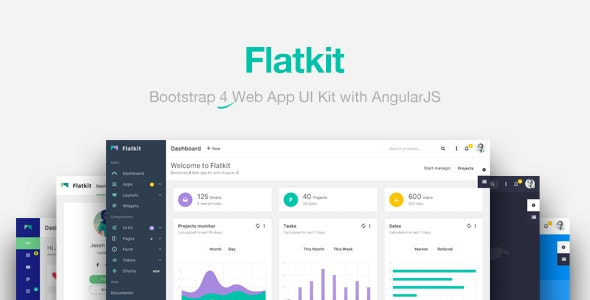 Flatkit | App UI Kit - Admin Templates Site Templates