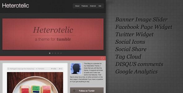 Heterotelic Tumblr Theme - Blog Tumblr