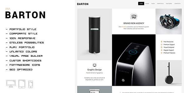 BARTON - Smart Portfolio Theme for Creative People - Portfolio Creative