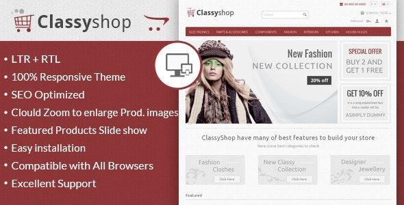 Classy Shop - Responsive OpenCart Template - OpenCart eCommerce
