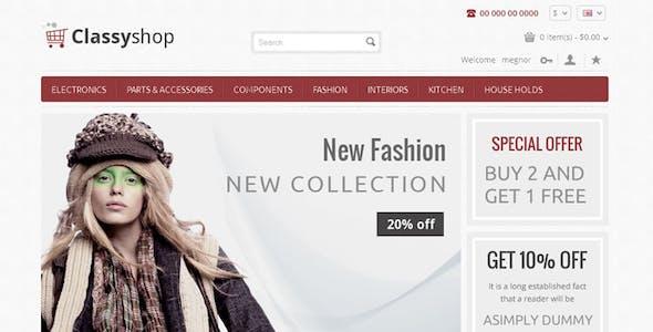 Classy Shop - Responsive OpenCart Template
