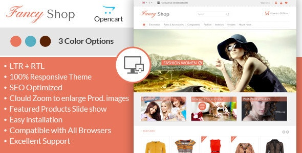 Fancy Shop - Opencart Responsive Theme - Fashion OpenCart