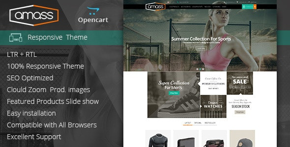 Amass - Opencart Responsive Theme - Health & Beauty OpenCart