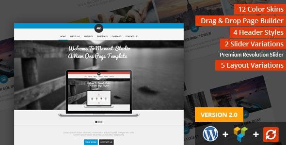 Mannat Studio Parallax One Page WordPress Theme - Portfolio Creative
