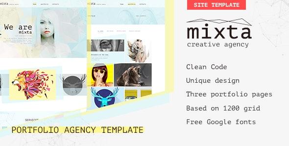 Mixta — Creative Agency, Portfolio HTML Template - Portfolio Creative