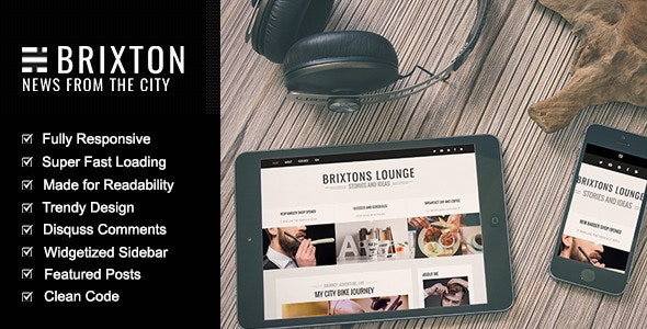 Brixton - Authentic Ghost Theme - Ghost Themes Blogging