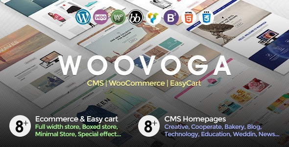 Voga - Multi-Purpose WooCommerce EasyCart WP Theme - WooCommerce eCommerce