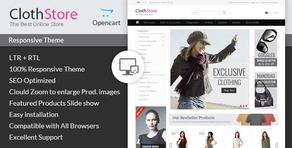 ClothStore - Opencart Responsive Theme - Fashion OpenCart