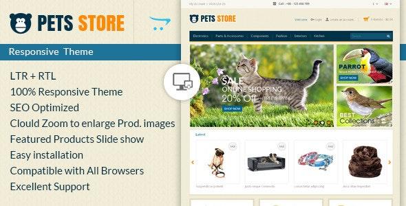 Pet Store - Opencart Responsive Theme - OpenCart eCommerce