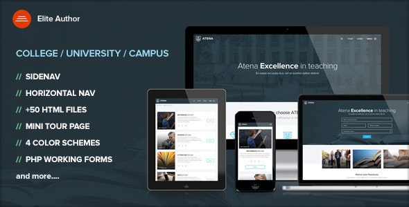 Atena - College and University template - Corporate Site Templates