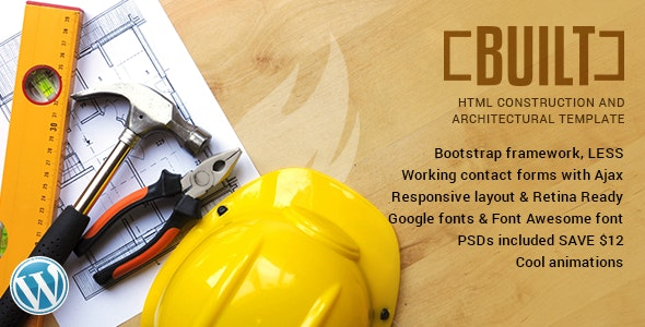 BUILT | HTML5 Template for Construction Businesses - Business Corporate