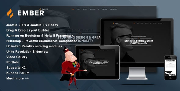 JM Ember - Creative Theme with One Page Parallax Joomla Template - Creative Joomla