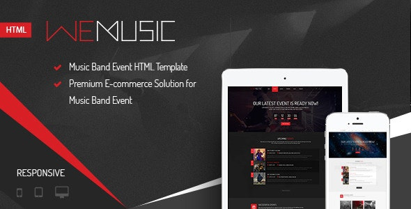 WeMusic - Music Band Event HTML Template - Music and Bands Entertainment
