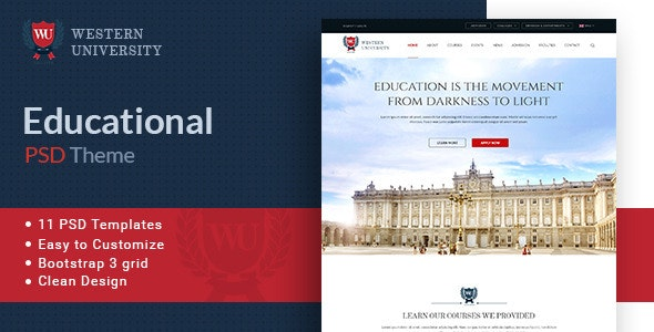 Western University | Educational PSD Theme - Business Corporate